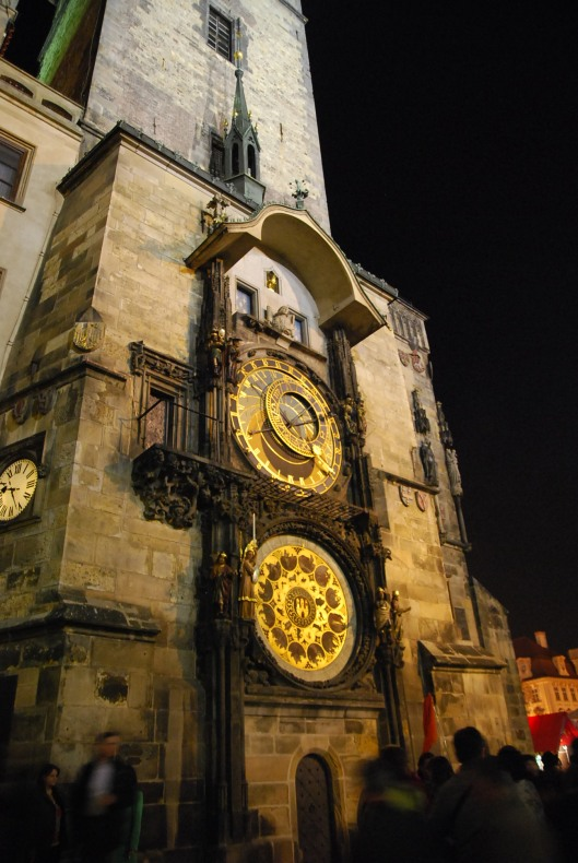 How old is this clock tower? 602 years on the day it's captured.